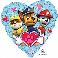 "Mylar - 18"" - Paw Patrol Heart"