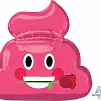 """Mylar - 24"""" - Pink Emoji"""