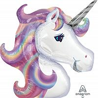 """Mylar - 33"""" - Purple Unicorn Supershape"""