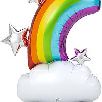 Mylar - Rainbow - AIR FILLED