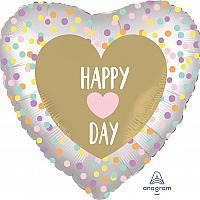 "Mylar - 18"" - Happy Heart Day"