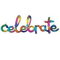 Mylar - Rainbow Celebrate - AIR FILLED