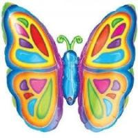 "Mylar - 25"" x 25"" Bright Butterfly"