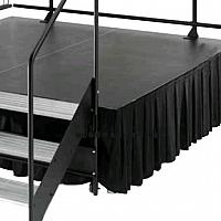 Stage Drape, Black 8' x 8'
