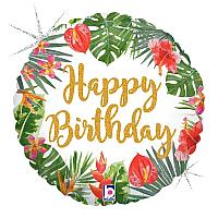 Mylar - Happy Birthday Tropical