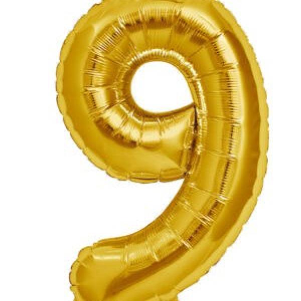 """Mylar - 34"""" - Gold 9"""