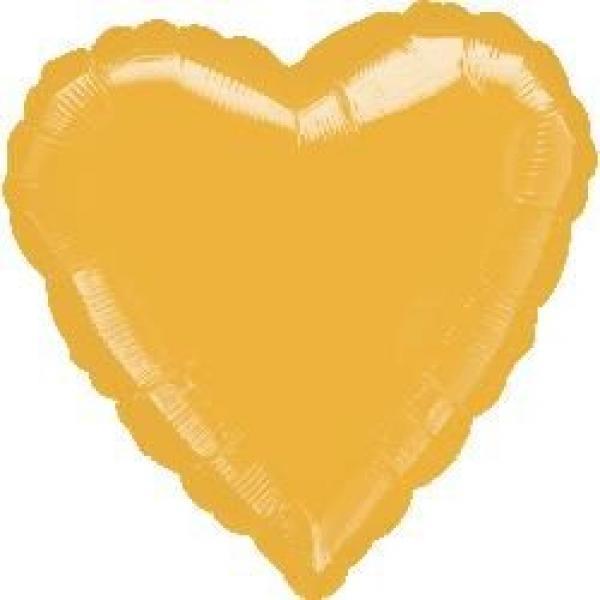 """Mylar 18"""" - Gold Heart"""