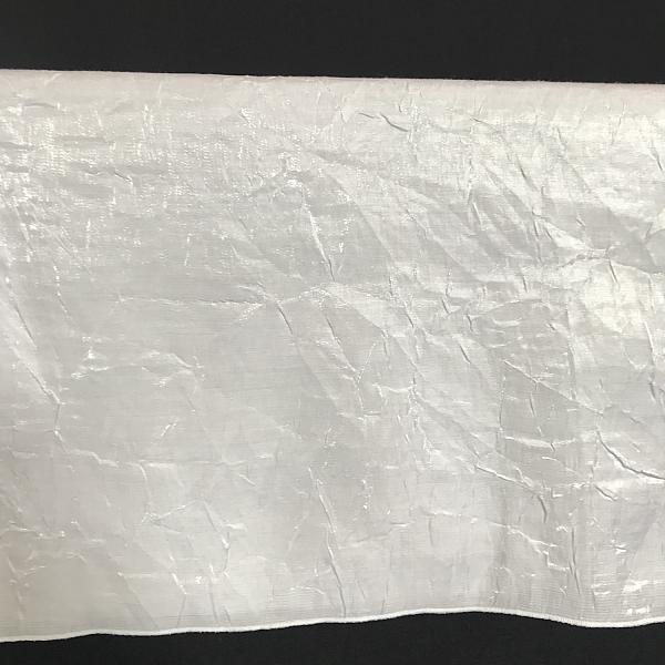 "Round Linen - White - Crushed Silk 108"""