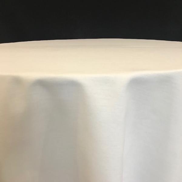 """Round Linen - White - 110"""""""