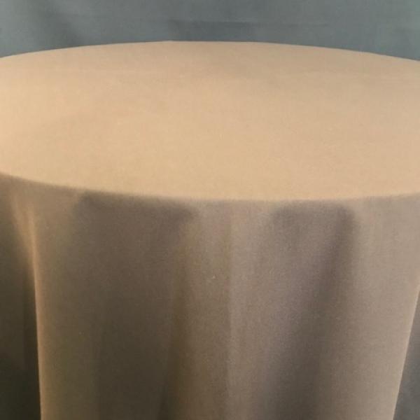 "Round Linen - Chocolate - 120"""