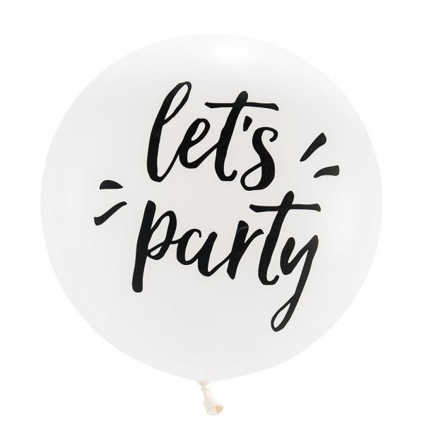 """Latex - 36"""" - Let's Party Balloon w/ helium"""
