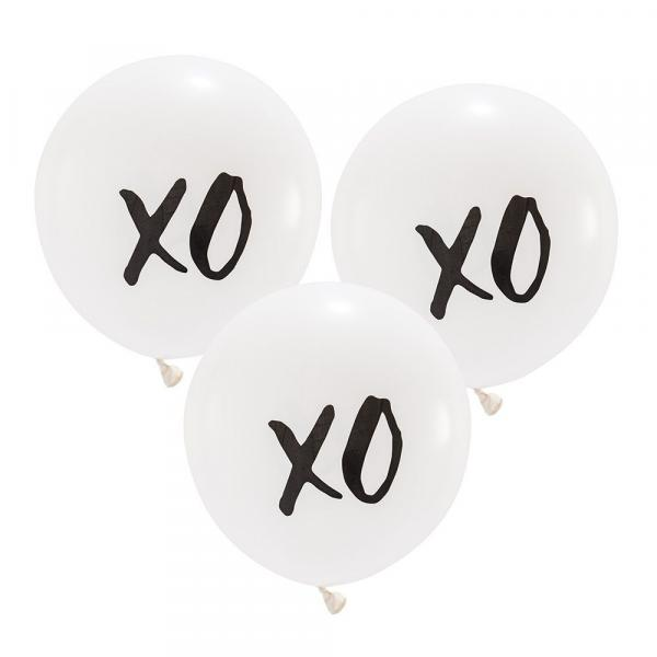 "Latex - 17"" - XO Balloon w/ helium"