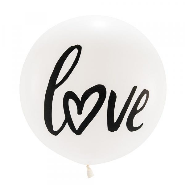 "Latex - 17"" - Love Balloon w/ helium"