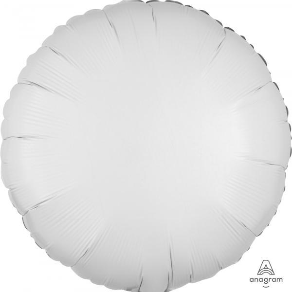 """Mylar 18"""" - White Round"""