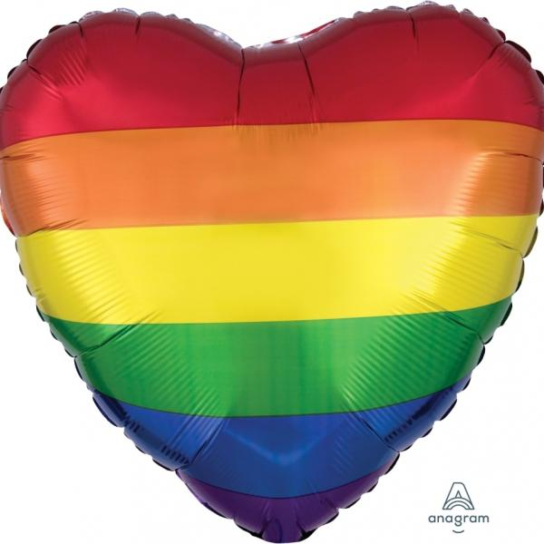 "Mylar - 18"" - Rainbow Fun Heart"
