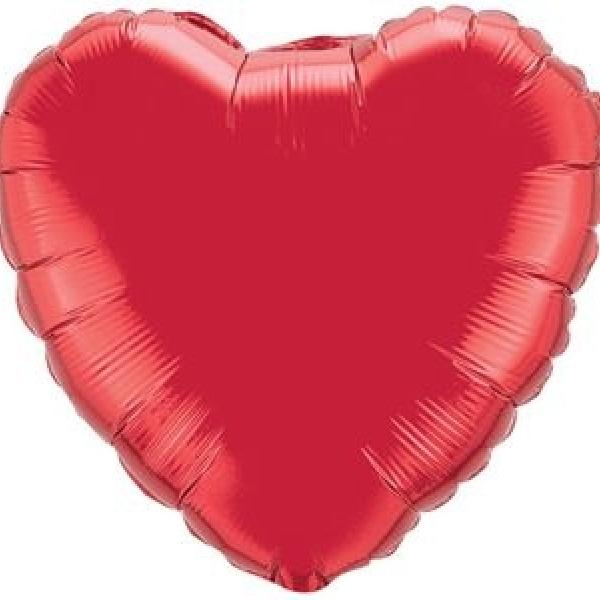 "Mylar 18"" - Red Heart"