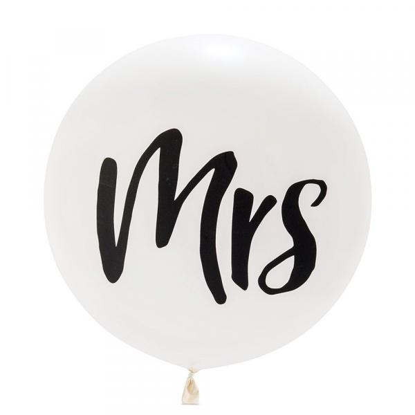 "Latex - 17"" - Mrs Balloon w/ helium"