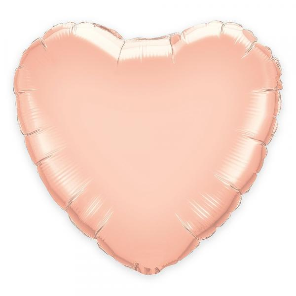 "Mylar - 36"" - Rose Gold Heart"