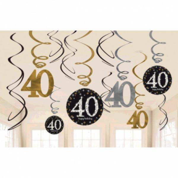 Sparkling Celebration - Swirly Decoration - 40