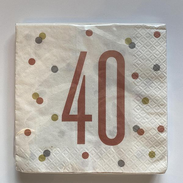 Rose Gold Napkins - 40