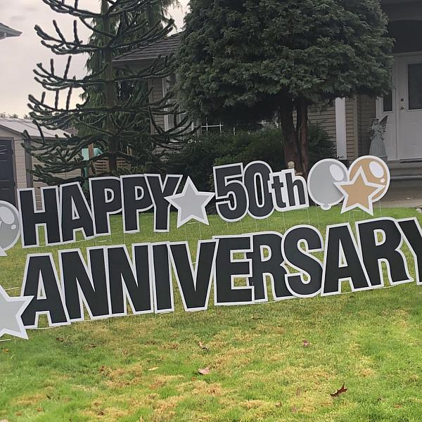Lawn Letters - Happy Anniversary