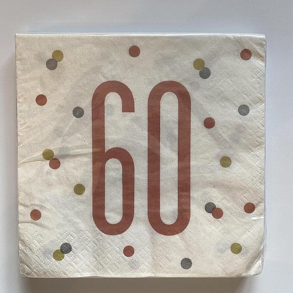 Rose Gold Napkins - 60