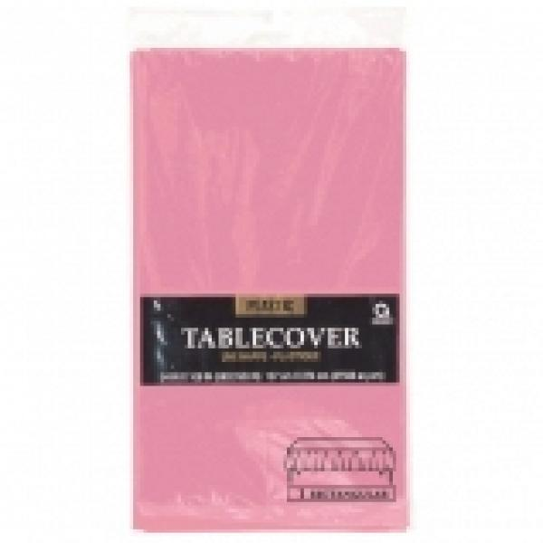 Plastic Tablecover - Rectangle - Light Pink