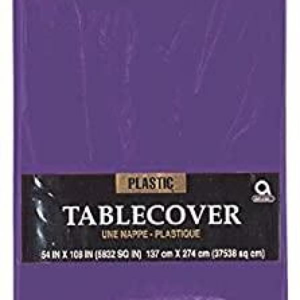 Plastic Tablecover - Rectangle - Purple