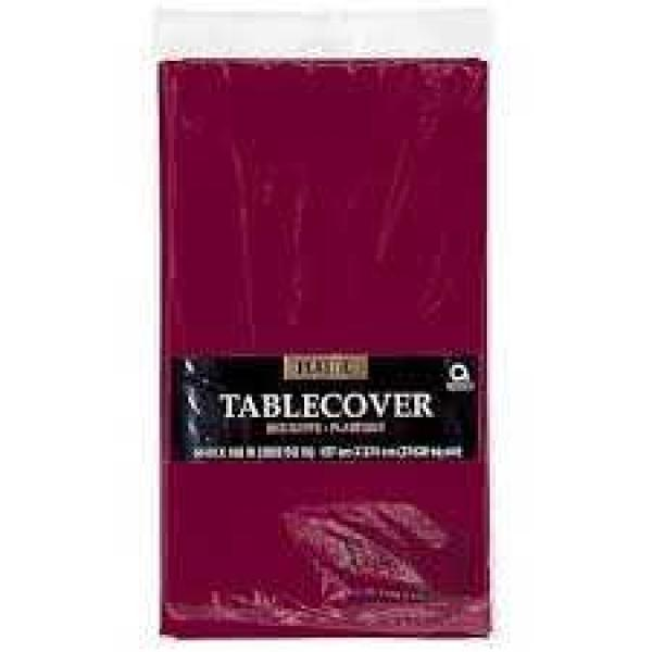 Plastic Tablecover - Rectangle - Berry
