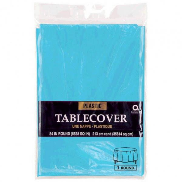 Plastic Tablecover - Round - Turquoise