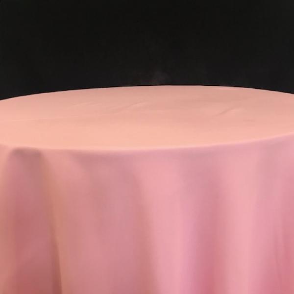 """Round Linen - Pink - 90"""""""