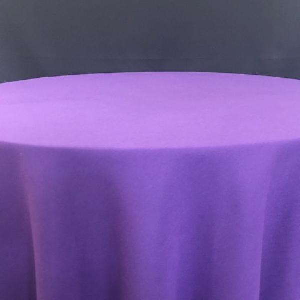 """Round Linen - Purple - 90"""""""