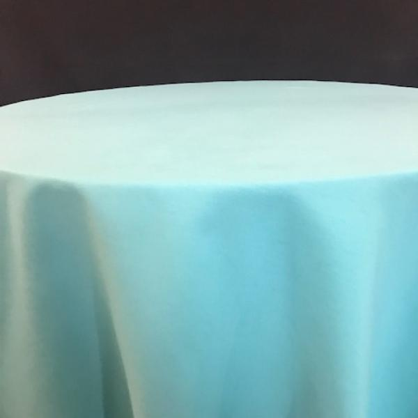 "Round Linen - Turquoise - 90"""