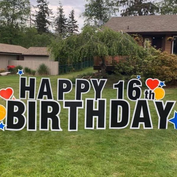 Lawn Letters - HAPPY BIRTHDAY
