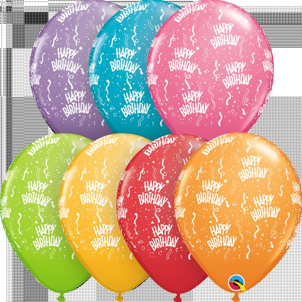 "Balloon - 11"" Latex - Happy Birthday Festive"