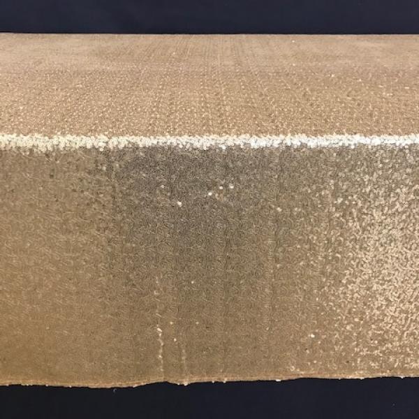 """Banquet Linen - Sequin - Gold - 90""""x156"""""""