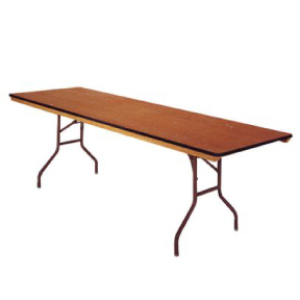 8' Banquet Table - Wood