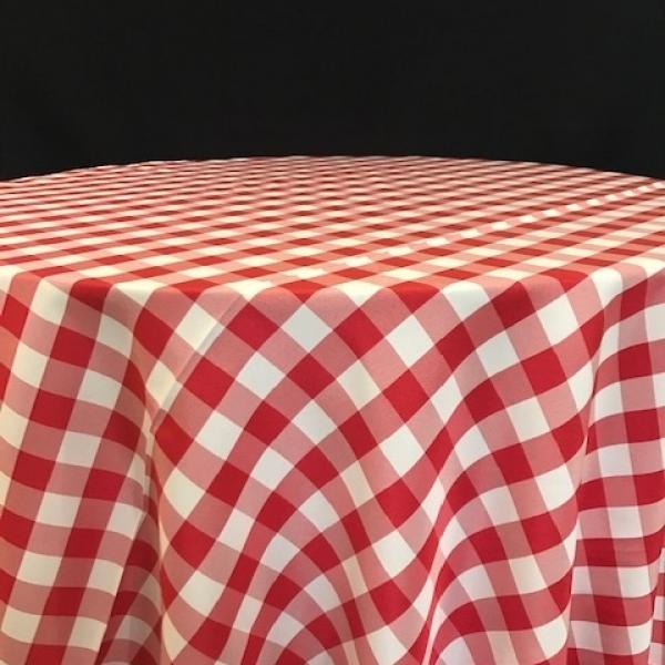 """Banquet Linen - Gingham - Red - 54""""x120"""""""