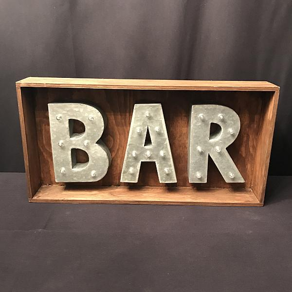 "Marquee Sign - Bar 15"" x 29.5"""