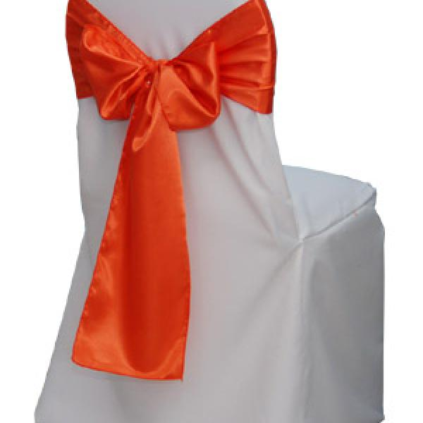 Chair Cover - Bistro - Satin - White
