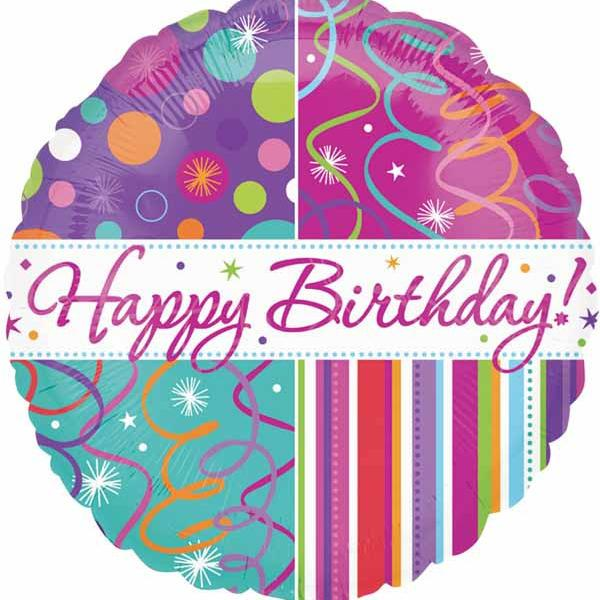 "Mylar - 18"" - Birthday Streamers"