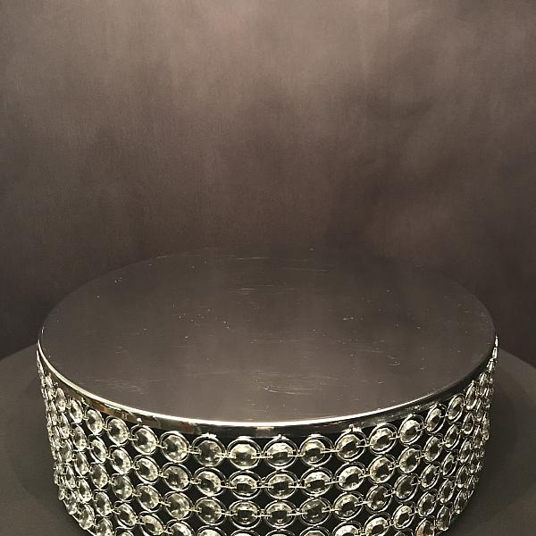 """Cake Stand - Round - Crystal 18"""""""