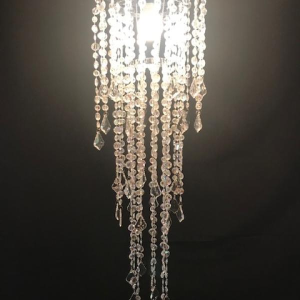 "Unlit Chandelier - Crystal - 10"""