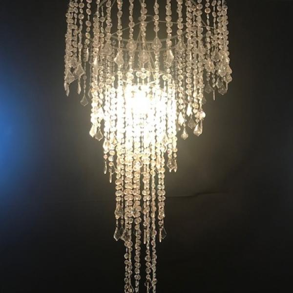 Unlit Chandelier - Crystal - Combo