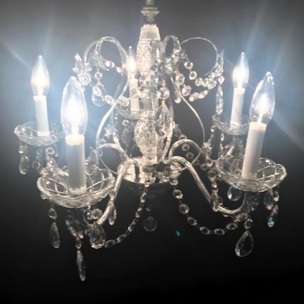 "Chandelier - Silver - 5 Lights  20""w x 19""h"