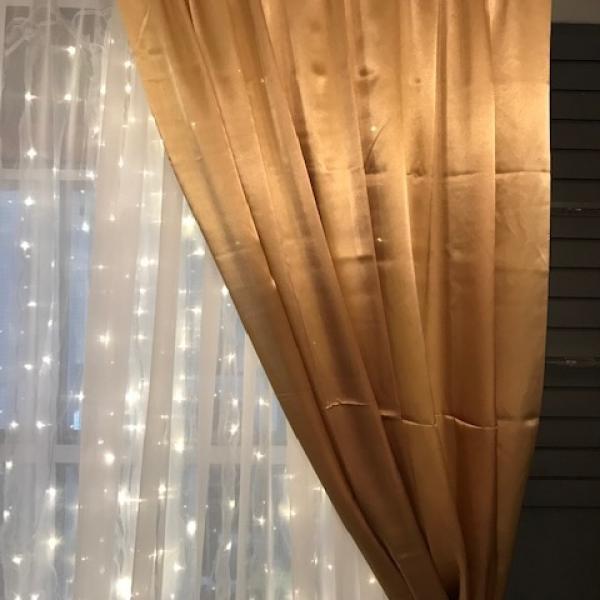 Backdrop Curtain Panel - Satin - Gold 5' x 12'