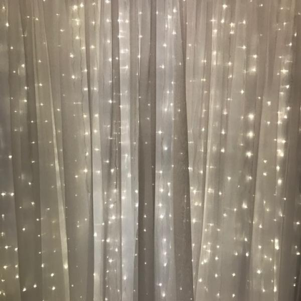 Backdrop Curtain Panel - Sheer - Ivory 10' x 12'