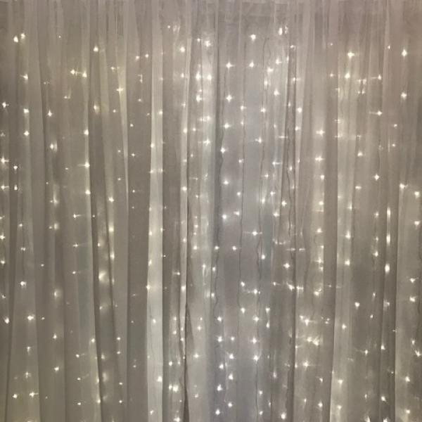 Backdrop Curtain Panel - Sheer - White 10' x 12'