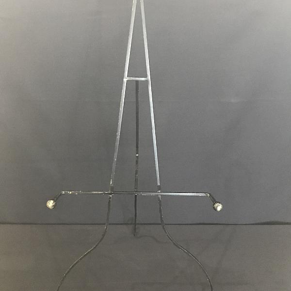 Easel - Wrought Iron - Black - Floor