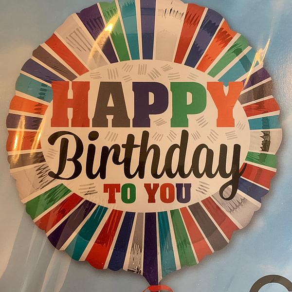 "Mylar - 18"" - Happy Birthday to You"